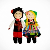 Dolls couple from Łowicz (green)