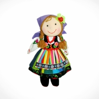 Doll girl from Łowicz (violet)