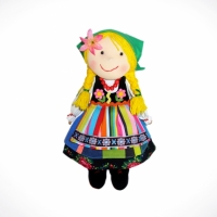 Doll girl from Łowicz (green)